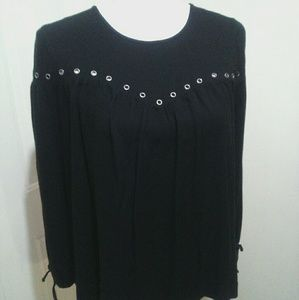 🌺 Sweet Rock & Republic Black Shirt/Blouse